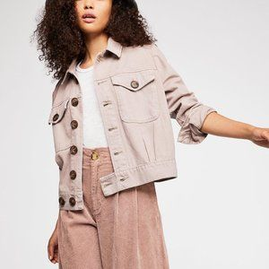 Free People Jackets & Coats - NWT Free People Eisenhower Denim Jacket